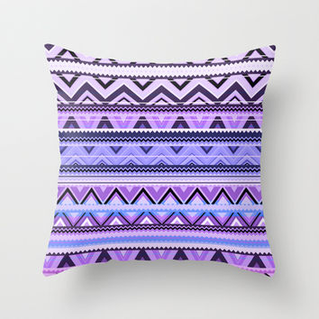 Mix #76 - Double Size - Purple Throw Pillow by Ornaart