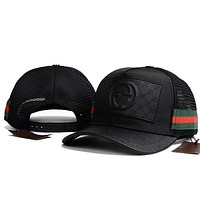 DCCKN7G GUCCI Women Men Breathable Adjustable Travel Hat Sport Cap