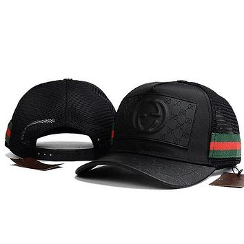 ONETOW GUCCI Women Men Breathable Adjustable Travel Hat Sport Cap