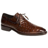 Mezlan of Spain - Tabac Genuine Ostrich Quill Oxford