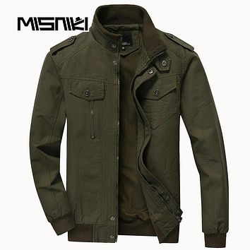 Spring Autumn Bomber Jackets Coats Men Cotton Casual Workout Military Jacket Men