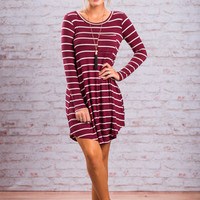 Fab Finds Dress, Burgundy