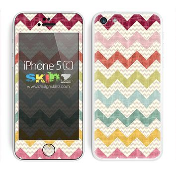 Multiple Summers Chevron Pattern Skin For The iPhone 5c