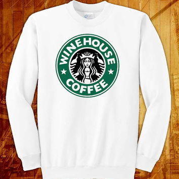 Amy winehouse starbucks, sweatshirt size s, m, l, xl, 2xl, 3xl