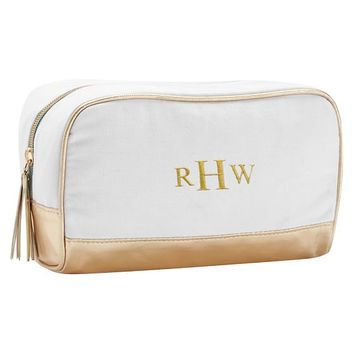 Sleepover Gold Colorblock Medium Toiletry Case