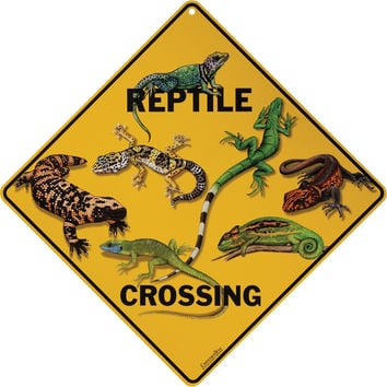 Reptile Crossing Aluminum Sign