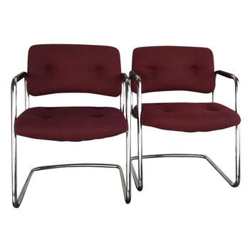 Pre-owned Steelcase Vintage Chrome Chairs - A Pair