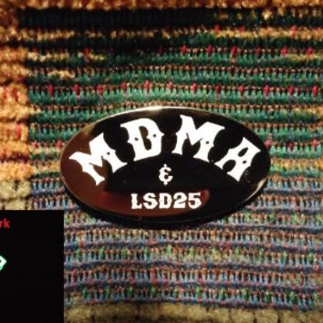 MDMA LSD Candy Flip LSD25 Ecstasy Molly Acid Hippie Flip Lapel Hat Pin
