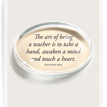 The Art Of Being A Teacher Crystal Oval Paperweight