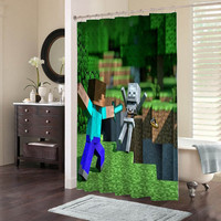 Minecraft Mine Craft Game special custom shower curtains that will make your bathroom adorable.