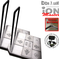 (In Stock Now!) 2 x Dance Dance Revolution iON Master Arcade Metal Dance Pad with Raised Buttons and Strong Handle Bar for PS/PS2 - Wii - Xbox - PC