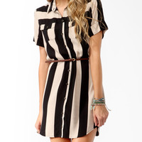 Striped Shirtdress w/ Belt