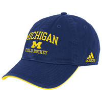 SEARCH Adidas University of Michigan Field Hockey Navy Sport Hat