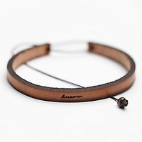 Laurel Denise Womens All in a Word Leather Bracelet -