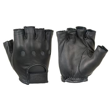 Damascus Premium Leather 1/2 Driving Gloves