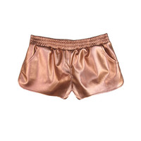 Metallic Shorts Rose Gold