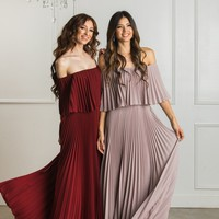 Candace Pleated Maxi Dress