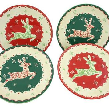 Reindeer Plate Set of 4