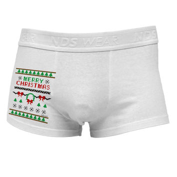 Merry Christmas Ugly Christmas Sweater Side Printed Mens Trunk Underwear