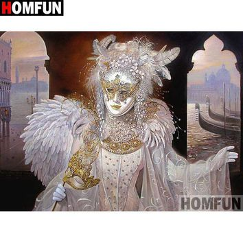 5D Diamond Painting White and Gold Masquerade Kit
