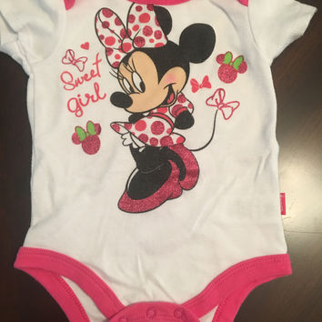 Minnie Mouse Onesuit ~ 3-6 Months ~ pre-owned