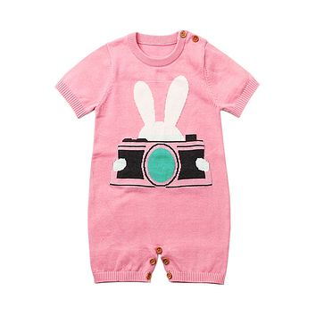 Pink Rabbit Photography Baby T-shirt Onesuits