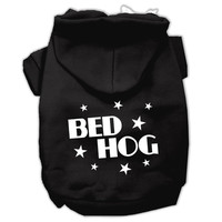 Bed Hog Screen Printed Pet Hoodies Black Size Sm (10)