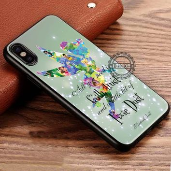 Tinker Bell and Quote Disney iPhone X 8 7 Plus 6s Cases Samsung Galaxy S8 Plus S7 edge NOTE 8 Covers #iphoneX #SamsungS8