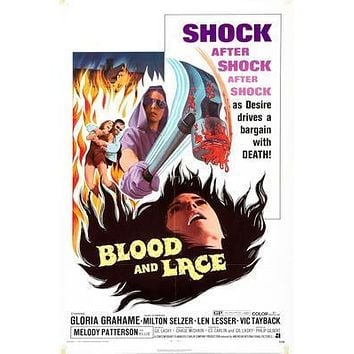 Blood And Lace Movie poster Metal Sign Wall Art 8in x 12in