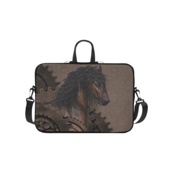Personalized Laptop Shoulder Bag Steampunk Horse Handbags 10 Inch
