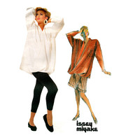 1980s Issey Miyake PANTS Tights  TOP Tunic SKIRT Skort Pantskirt Pattern Casual Vogue 1729 Individualist Womens Sewing Patterns Size 10