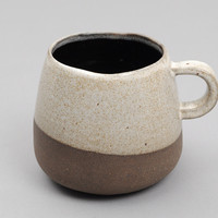 wheel ceramic company - mug dark brown clay with grey glaze