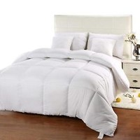 Down Alternative Comforter Ultra plush Quilted Hypoallergenic Bedding White