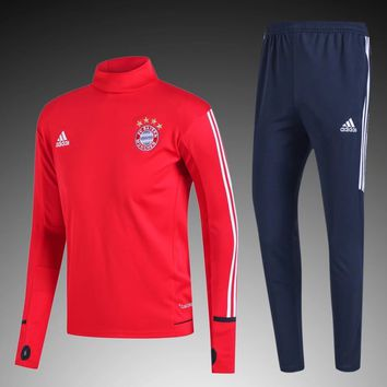 KUYOU Bayern Munchen 2017/18 Red Men Tracksuit Slim Fit