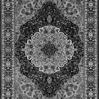 1004 Black Medallion Oriental Area Rugs