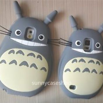 3D cartoon My Neighbor Totoro Silicone Case cover for samsung galaxy S5 note3 SV