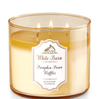 Pumpkin Pecan Waffles 3-Wick Candle - White Barn | Bath And Body Works