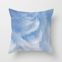Clouds and sky Throw Pillow by Laureenr