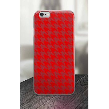 65 MCMLXV Red Houndstooth Print iPhone Case
