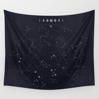 Constellations Wall Tapestry by Seana Seeto