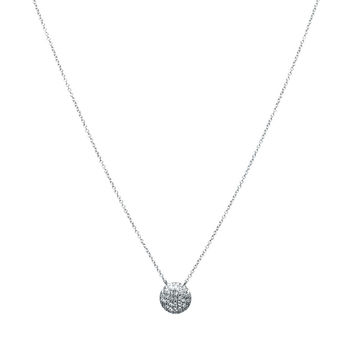 Medium Lauren Joy Diamond Disc Necklace