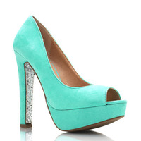 glitter-sole-platforms MINT PEACH - GoJane.com