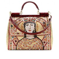 mytheresa.com - Miss Sicily Grande embellished brocade tote - Luxury Fashion for Women / Designer clothing, shoes, bags
