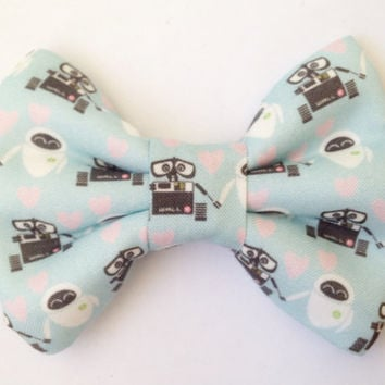 Disney's Wall-E and Eve Love Handmade Bow (Handmade Bow / Bow Tie / or Headband)