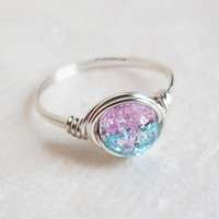 Silver Cotton Candy Ring