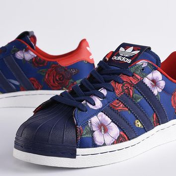 """Adidas"" Superstar 80S Rita ora Shell toe Flower Casual Sneakers"