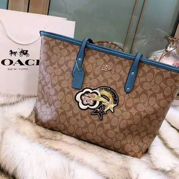COACH High Quality Fashionable Women Shopping Bag Leather Handbag Tote Shoulder Bag
