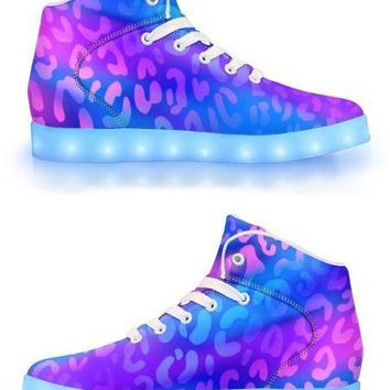 Electric Leopard - APP Controlled High Top LED Shoes