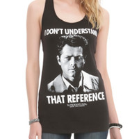 Supernatural Castiel Reference Girls Tank Top