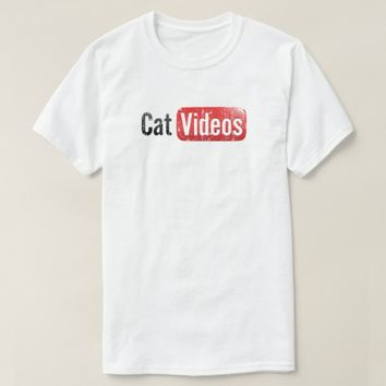 CAt Tube Youtube Parody Funny T shirt